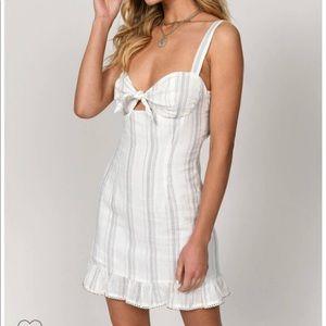 Linen Ruffle Bodycon Dress